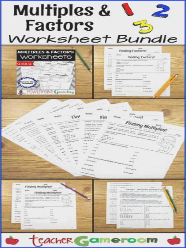 Factors And Multiples Worksheet Mychaume