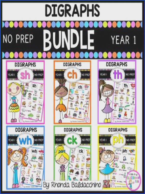 Digraphs BUNDLE Worksheets for SH CH TH WH CK PH NO PRE