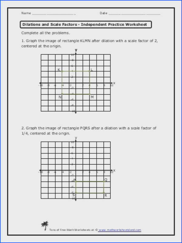 dilation worksheets translations pinterest geometry worksheets