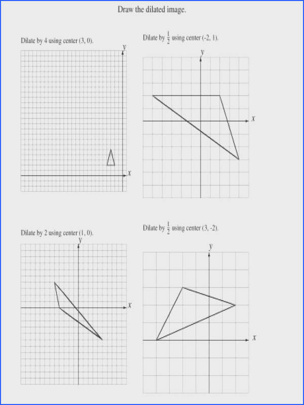 dilations using various centers a dilations 3center 3vertices 4scale 5point 00 a part of under Math Worksheet