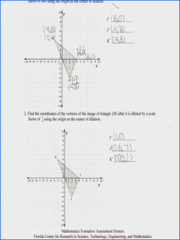 dilations worksheets free library and print math worksheet center answers mfas dilationcoordinates i a part of under