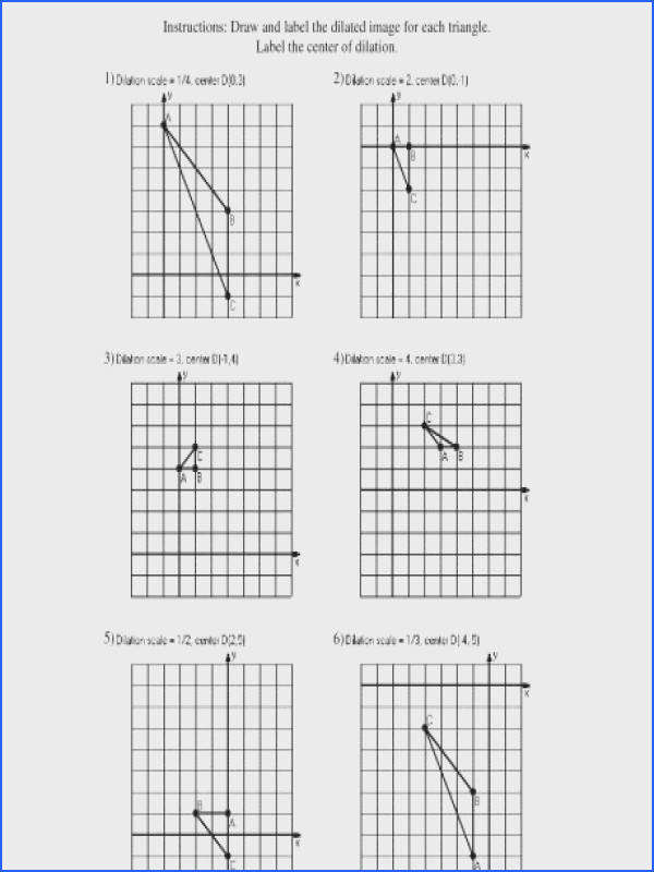 dilation math worksheets free library and worksheet center scale drawing dilations a part of under