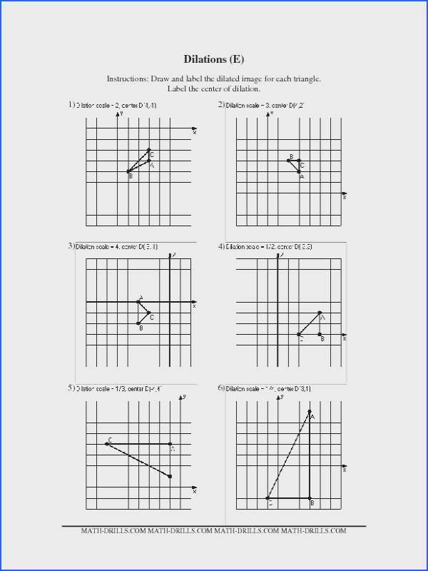 Dilation Worksheet