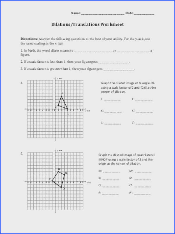 Dilations Worksheet Answer Key Worksheets for All Image Below Dilations Worksheet with Answers