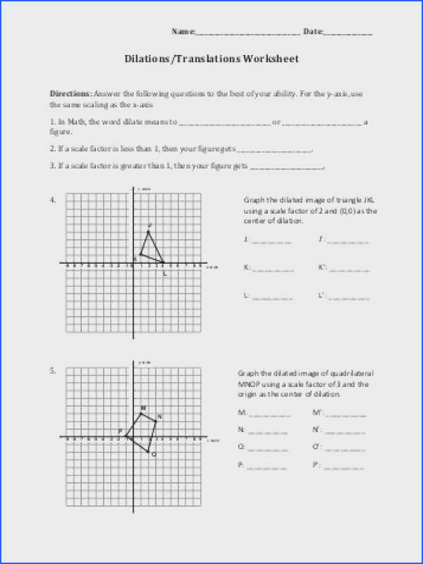 Dilations Worksheet Kuta Inspirational Dilations Worksheet Kuta 28 Templates Dilations Using Various
