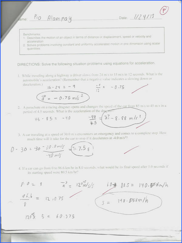 Distance And Displacement Worksheet With Answers Worksheets for all Download and Worksheets