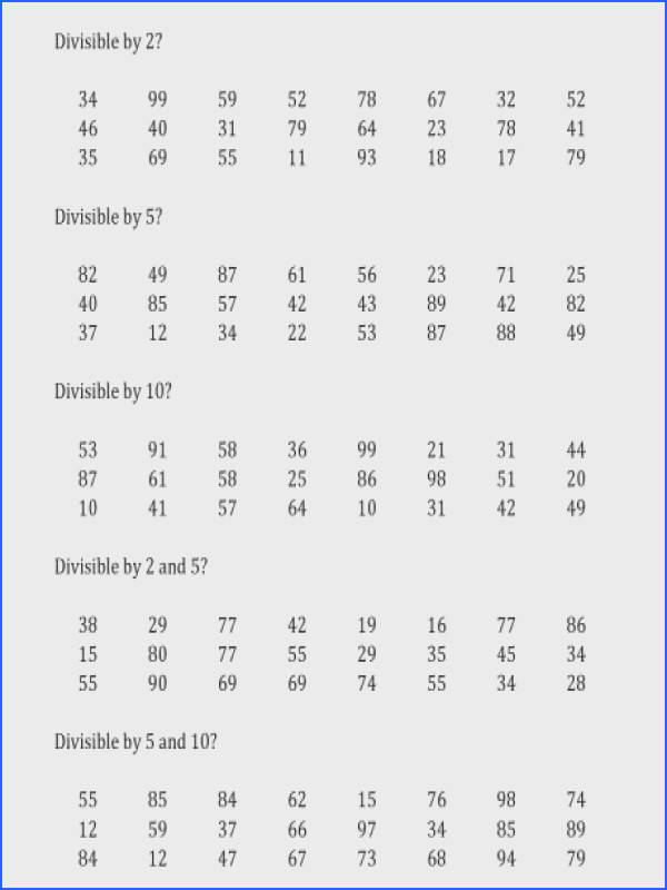 divisibility rules worksheet printable free worksheets library 4th grade division divisibility 2 00 a part of under Math Worksheet