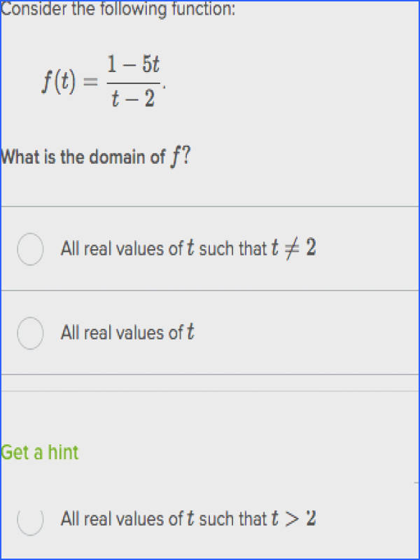 domain of algebraic functions