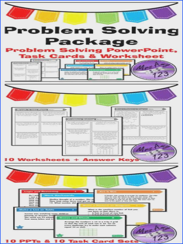 plete Problem Solving Package PowerPoints Task Cards and Worksheets Arranged into strategies