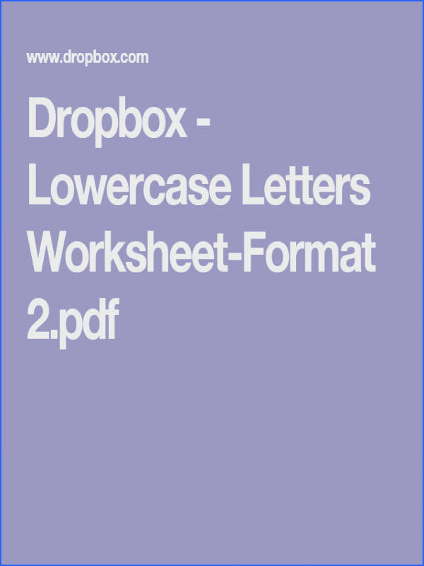 Dropbox Lowercase Letters Worksheet Format 2 pdf