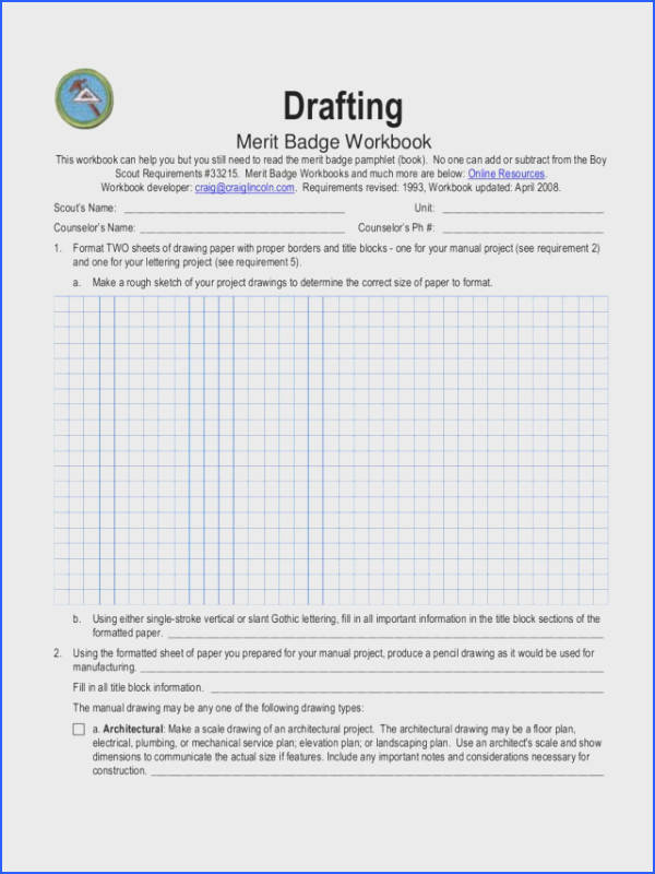 Eagle Scout Worksheet Rcnschool