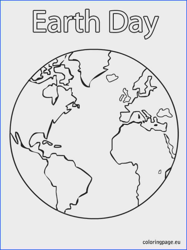 Earth Coloring Page great for Earth Day crafts Preschool Earth Day Recycling Nature Pinterest