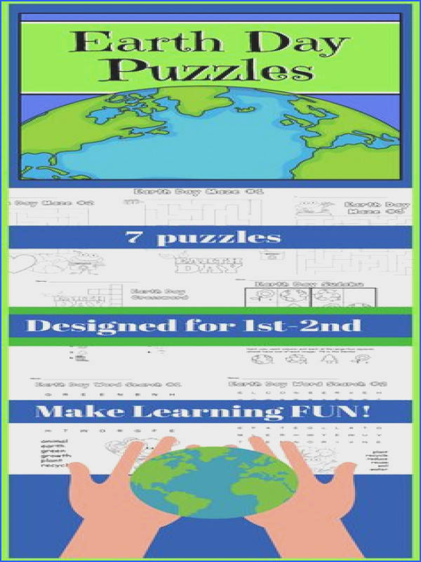 Earth Day Puzzles for 1st and 2nd Grades