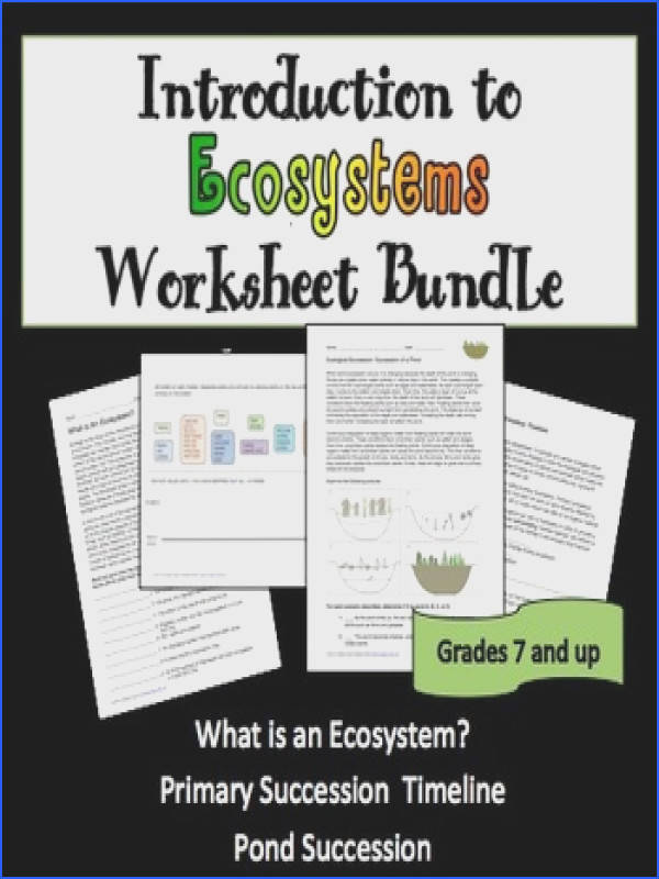 Introduction to ecosystems worksheet bundle Versatile worksheets that can be used in class or as · Ecological SuccessionEcologyHomeworkHigh