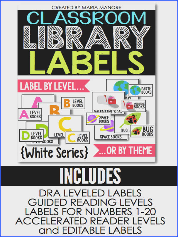 Great for accelerated reader labels classroom library labels and to label by level Also use to label by theme So many great options to organize your