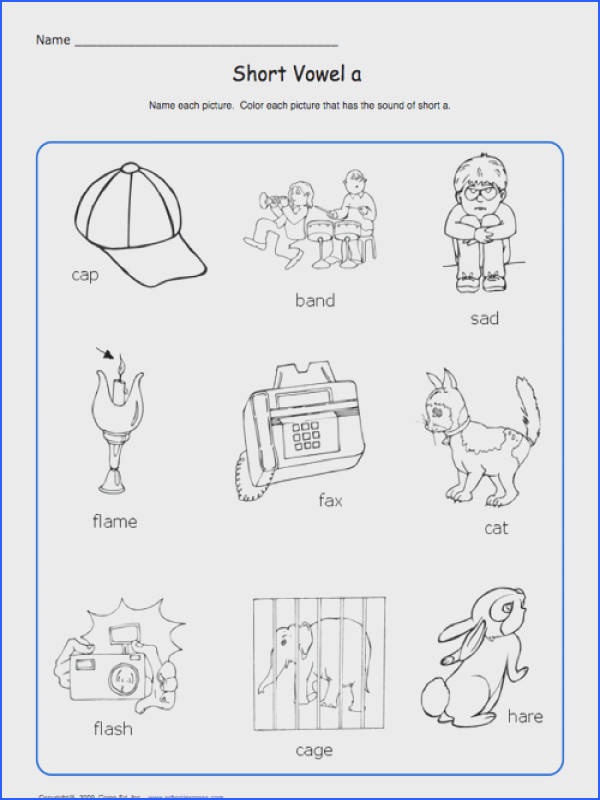 Education World School Express Short Vowel Worksheet