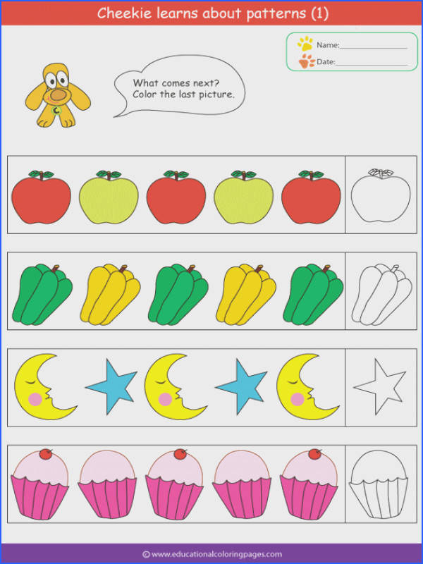 Patterns Coloring Pages Educational Fun Kids Coloring Pages and Preschool Skills Worksheets