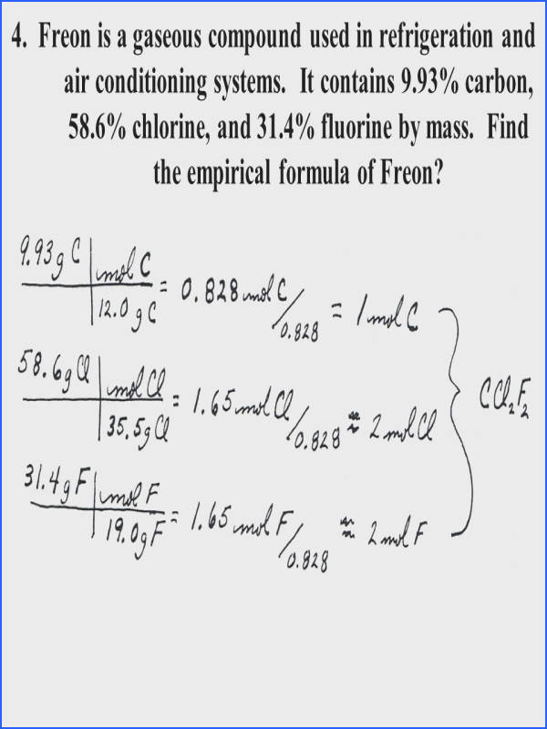 Empirical And Molecular Formula Worksheet Answers Mychaume