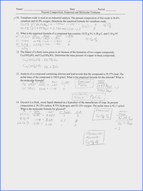 Empirical Formula Worksheet Answers Worksheets for all Download and Worksheets