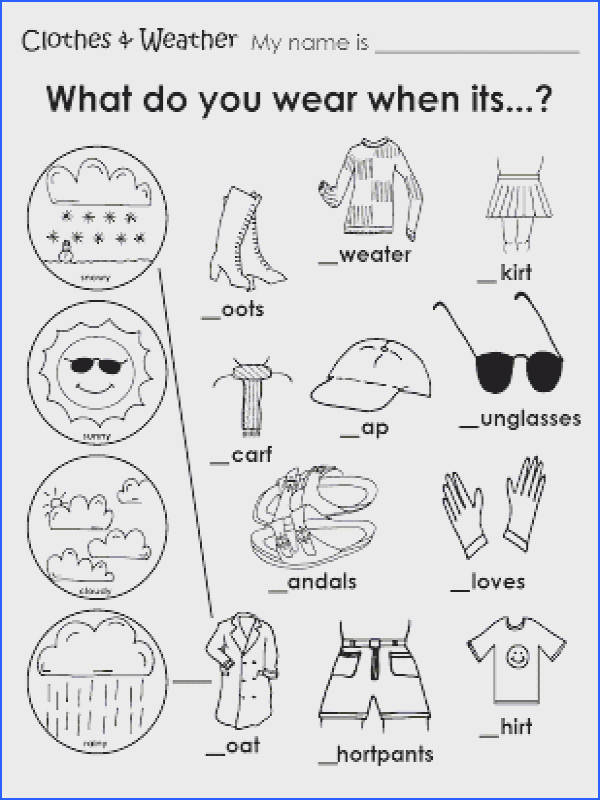 Free Coloring Pages Clothing Worksheet Weather Coloring Sheets For Kindergarten Weather Coloring Sheets For Kindergarten Mais
