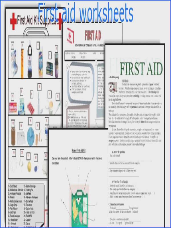English Teaching Worksheets First Aid