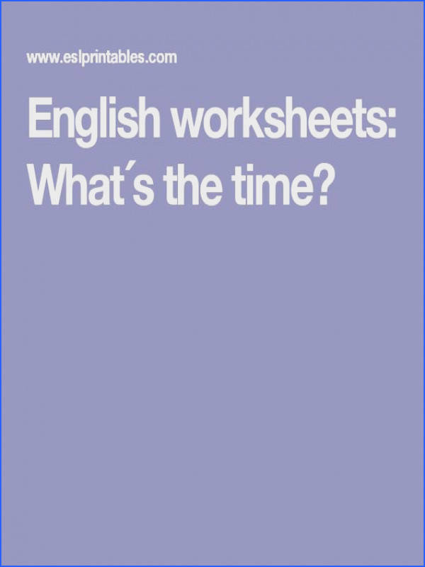 English worksheets What´s the time