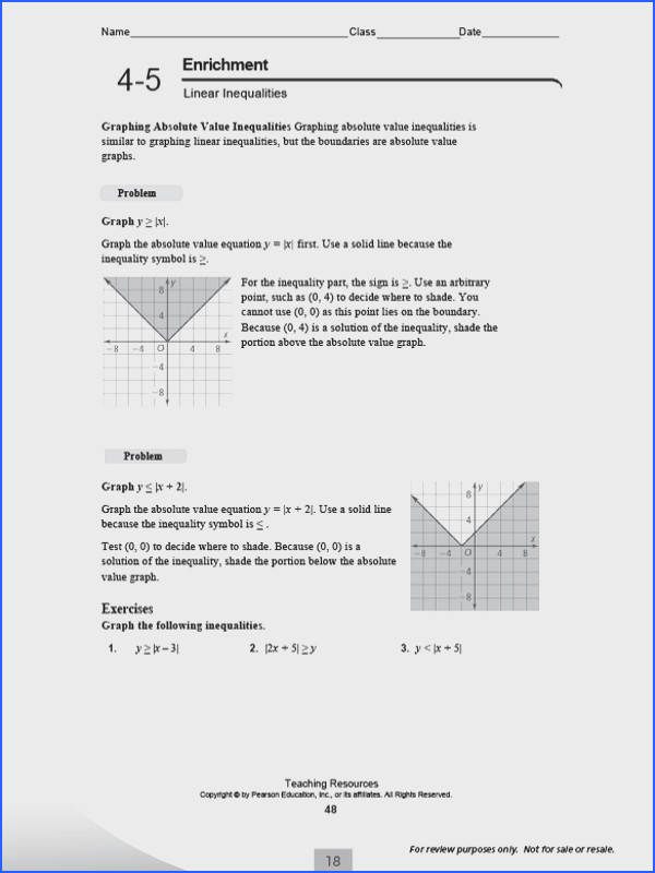 Enrichment Math Worksheets