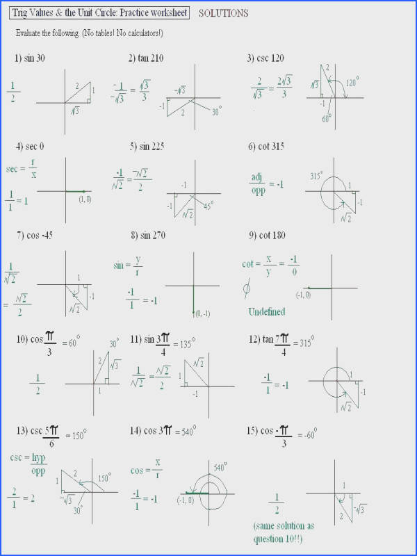 trigonometric ratios worksheet answers plus unit circle trig worksheet awesome geometry trig ratios in right triangles