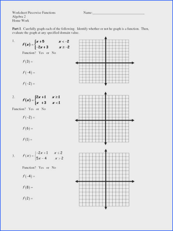 Piecewise Functions Worksheet And Answers Worksheets