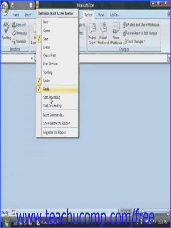 Excel 2010 Tutorial pare and Merge Workbooks Microsoft Training Lesson 16 5