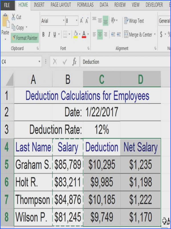 Copy Formatting to Other Worksheet Cells in Excel