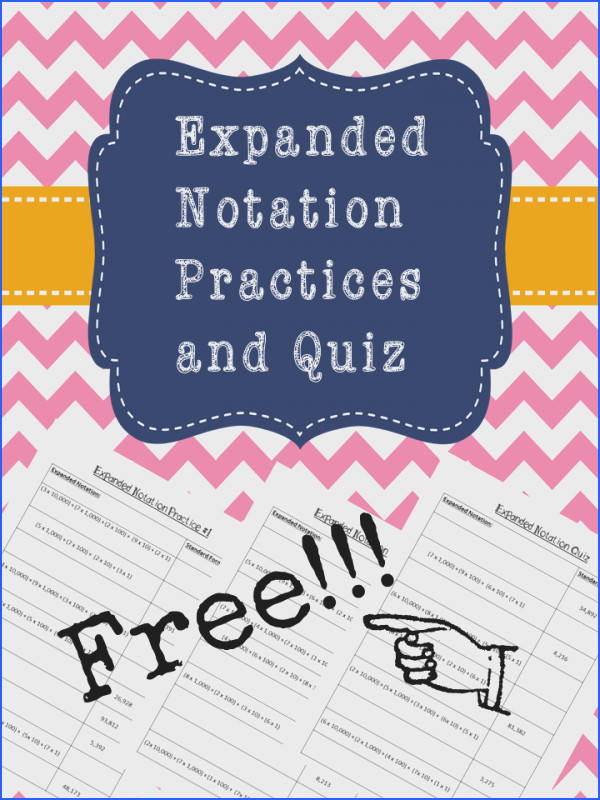 Expanded Notation Practice Pages and Quiz