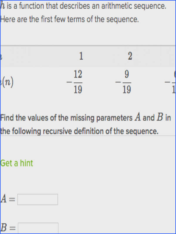 Explicit formulas for arithmetic sequences Algebra article