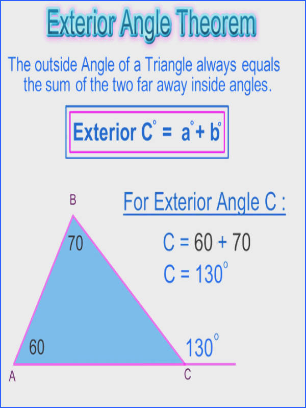 Triangle Exterior Angles Theorem