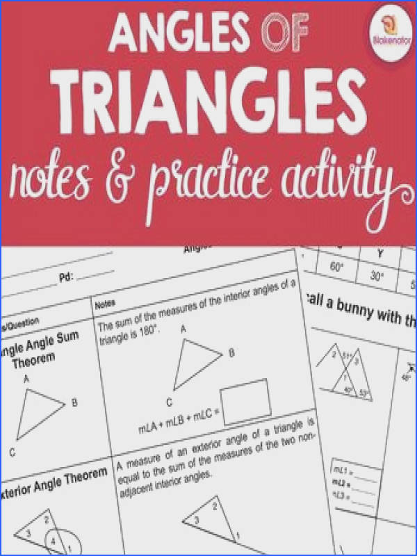 4 3 Exterior Angles Worksheet 7 100 Exterior Angle Theorem Worksheet Geometry