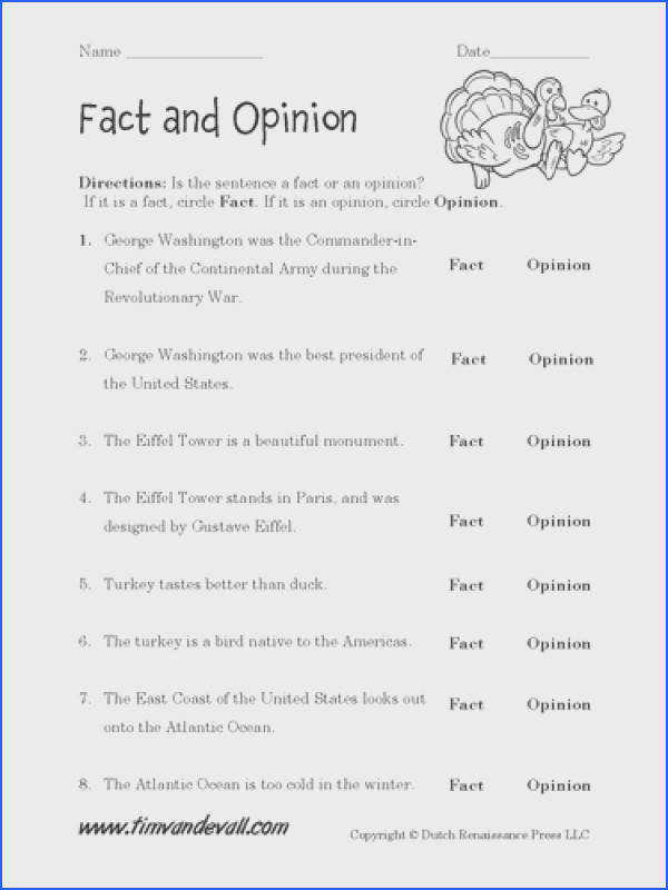 Fact And Opinion Worksheets In Spanish Worksheets for all Download and Worksheets