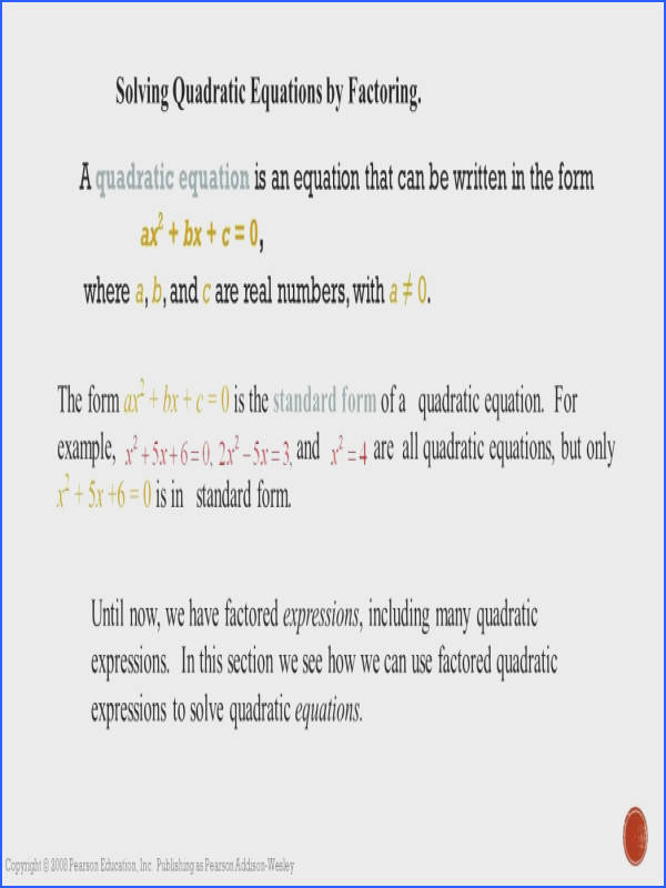 Quadratic Functions Unit Ppt Download Solvingquadraticequationsbyfact Factoring Trinomials The Form Ax2 Bx C Form