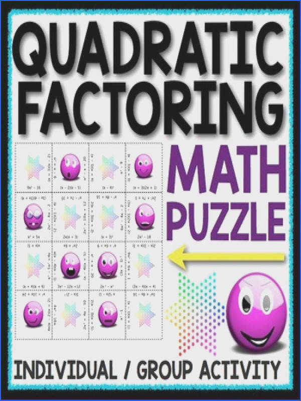 FACTORING QUADRATICS PUZZLELooking for a fun way for your students to practice factoring quadratic equations
