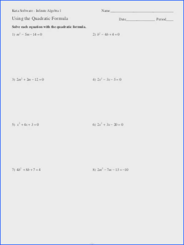 Solving Quadratic Equations By Factoring Worksheet Mychaume Com