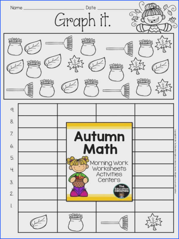 Fall Math Worksheets First Grade Math And English Language Arts Daily Morning Work Worksheets 6th
