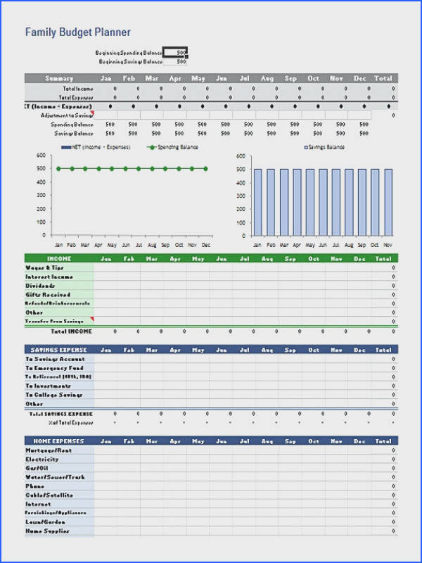 Family Bud Planner Excel Format Bud Template Excel Bud Template Excel to Help You