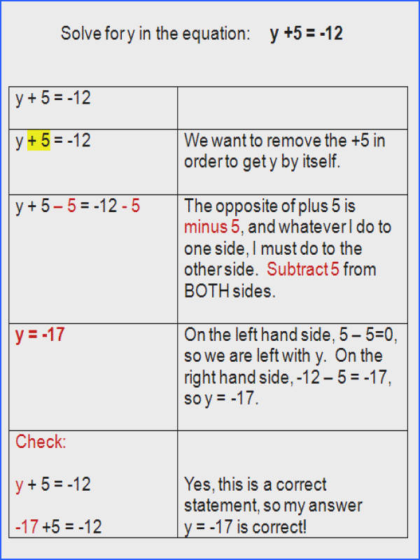 e Step Equations Worksheet With Answers Worksheets for all