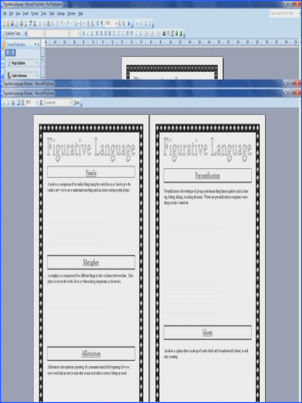 Figurative Language Worksheet and PowerPoint