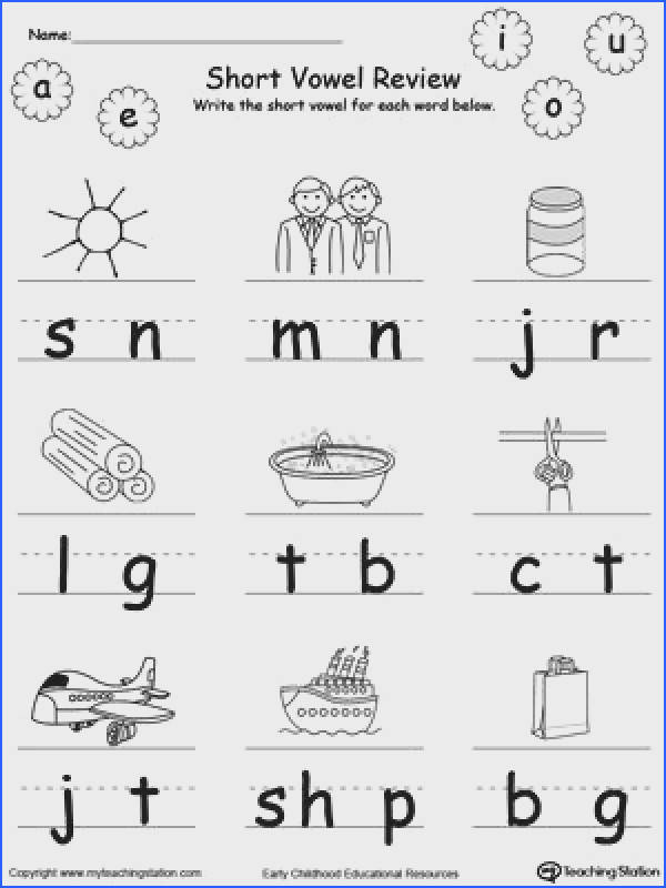 Kindergarten Phonics Worksheets Mychaume