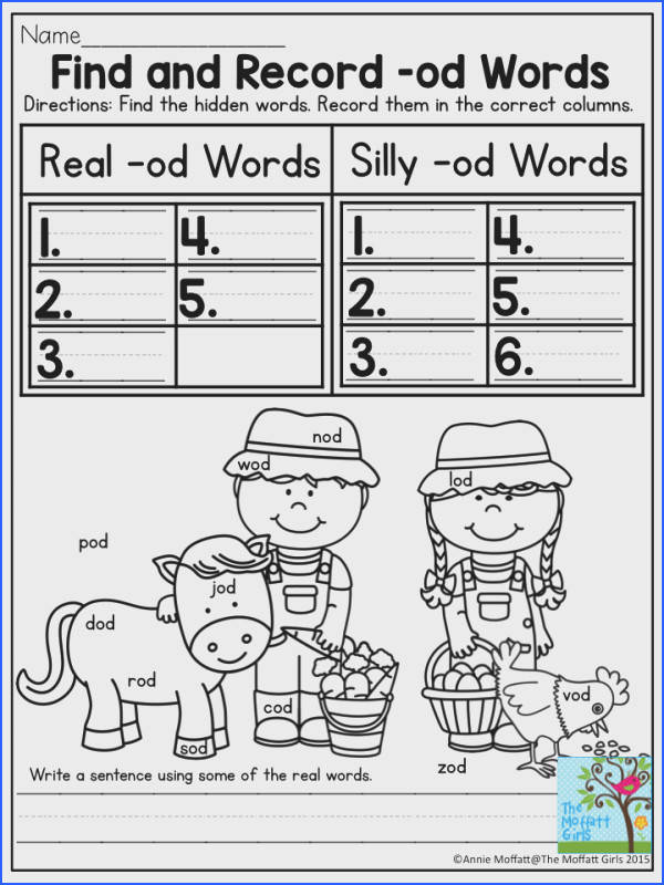 Find and Record CVC Words Find and record CVC words under Real Word or Silly