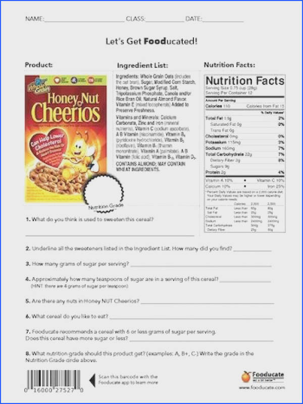 Students will analyze the food label and tell what is good vs what is bad in this food product We will then scan it to see what score …