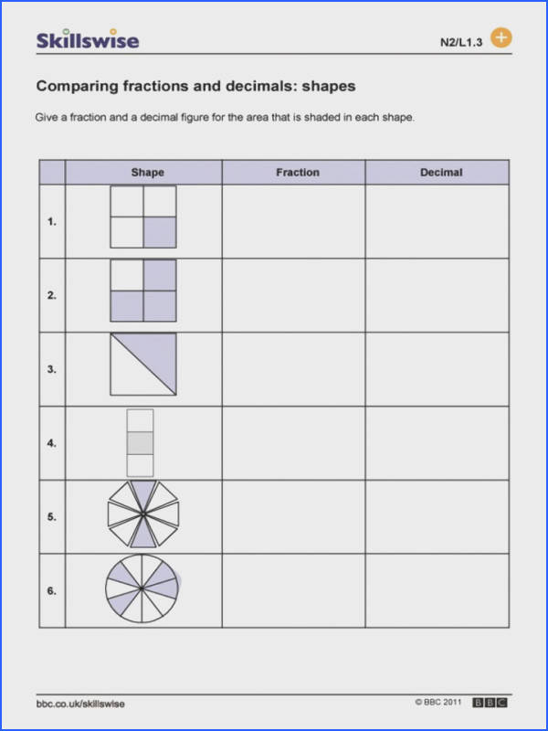 Fractions To Decimals Worksheets 4th Grade Changing Converting Free Math Worksheet For Classroom 720