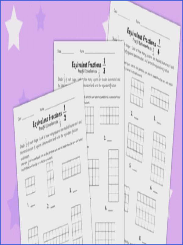Equivalent Fractions Worksheet Romanian Translation romanian