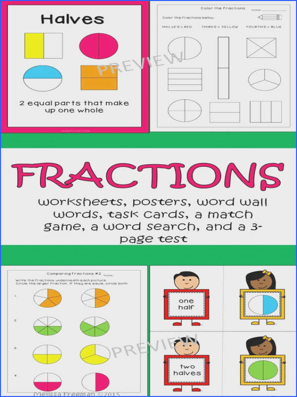 Fractions Worksheets & Activities