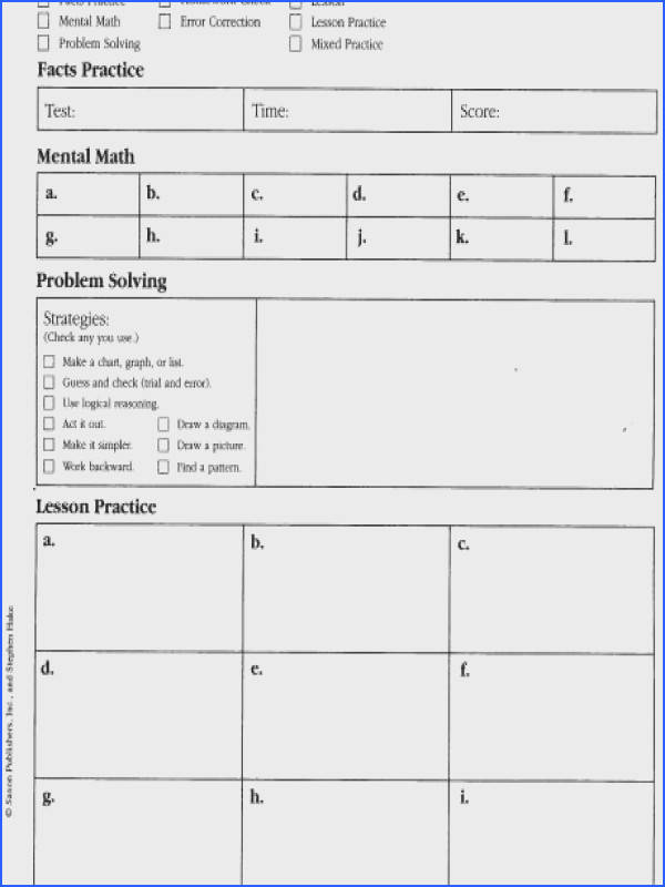 saxon math worksheets 4th grade free library fifth lessonworksheet a part of under Math Worksheet
